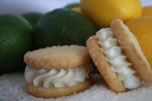 Margarita Sandwich Cookies from Vanilla Bean Unique Cookies