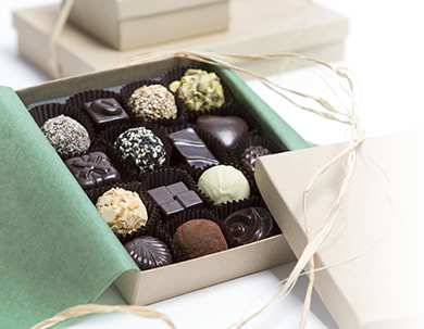 A box of truffles and other chocolates from Kee's Chocolates