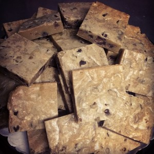 Chocolate Chip Blondies from Cake and the Beanstalk