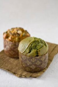 Fresh Flours' Green Tea & Azuki Red Bean Muffin (muffin in the front)