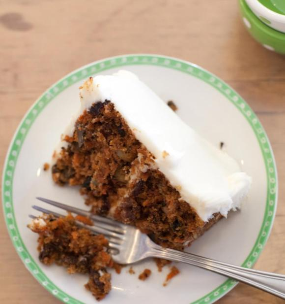 A Slice of Super Chunky Carrot Cake from Icing on the Cake Bakery (Los Gatos, CA) - Photo Courtesy of Icing on the Cake Bakery