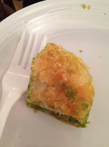 Baklava Brought in for Attendees of the Thousand and One Layers Panel
