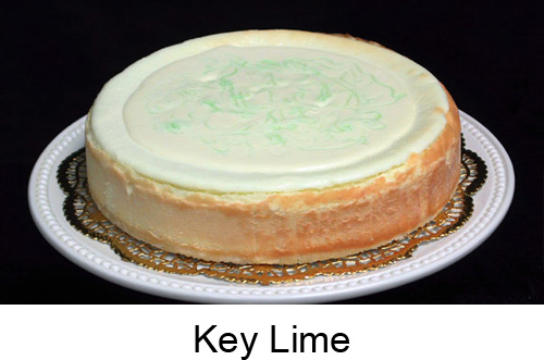 Key Lime Cheesecake from Charlie's Cheesecake Works (San Jose, CA) - Photo Courtesy of Charlie's Cheesecake Works