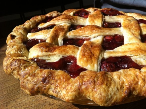 Cherry Rhubarb Lattice Pie from Three Babes Bakeshop - Photo Courtesy of Three Babes Bakeshop (San Francisco)