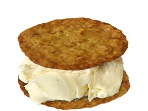 Sweet Wheels' Salted Oatmeal Cookie with Coconut Ice Cream - Photo Courtesy of Sweet Wheels (Seattle, WA)