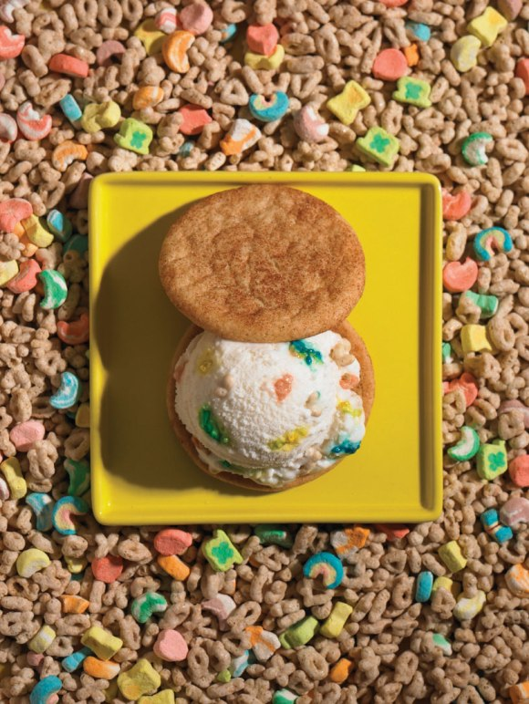 Whiskey Lucky Charms Ice Cream & Snickerdoodle Cookies