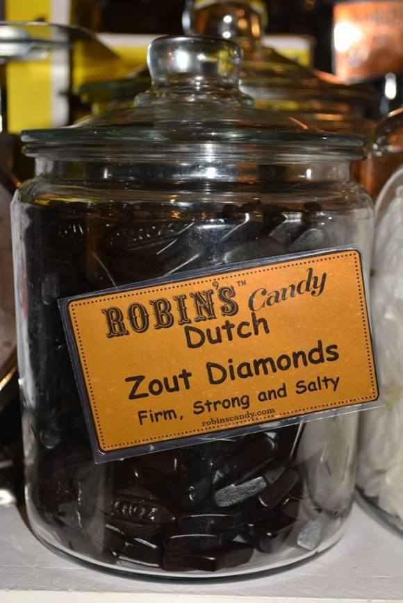Dutch Zout Diamond Licorice from Robin's Candy - Photo Courtesy of Robin's Candy (Boston and Great Barrington, MA)