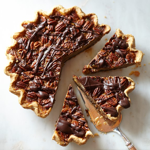 Dark Chocolate Pecan Pie from Sweetie-licious Bakery Café (Michigan) - Photo Courtesy of Williams-Sonoma's web site