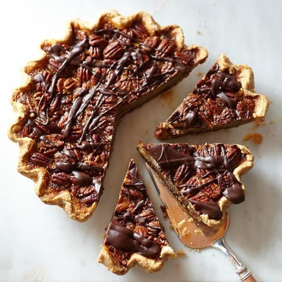 Dark Chocolate Pecan Pie from Sweetie-licious Bakery Café (Michigan) - Photo Courtesy of Williams-Sonoma's web site
