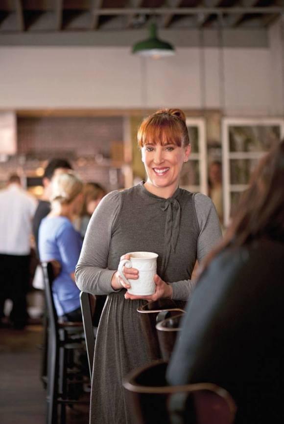Mindy Segal in Her Restaurant - Photo Courtesy of HotChocolate Restaurant & Dessert Bar