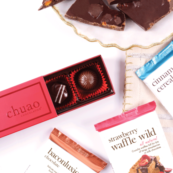 Chuao Chocolatier's Strawberry Waffle Wild Bar and other Products - Photo Courtesy of Chuao Chocolatier (CA)