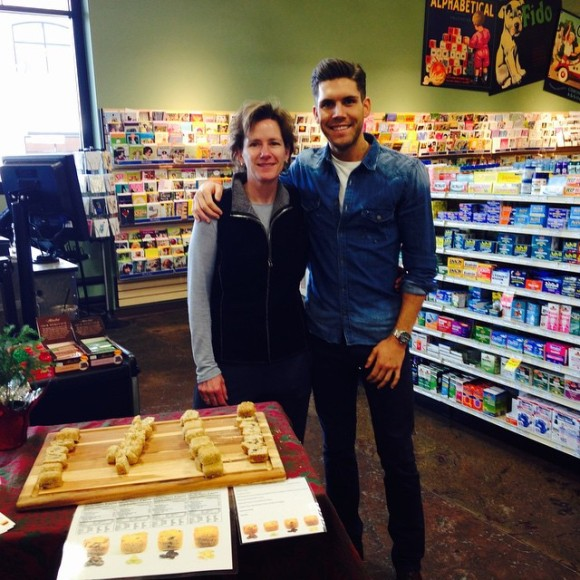 An Early In-Store Demo - Photo Courtesy of E&C's Snacks (Eden Prairie, MN)