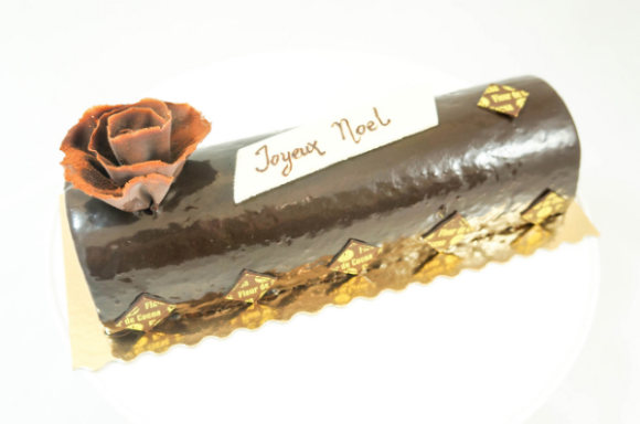 Fleur de Cocoa's Buche de Noel Cake - Photo Courtesy of Fleur de Cocoa (Los Gatos, CA)
