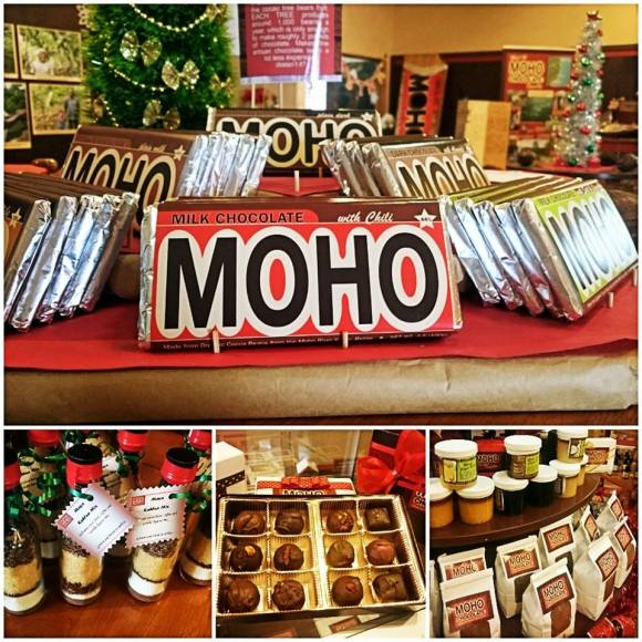 MOHO chocolae bars and other products
