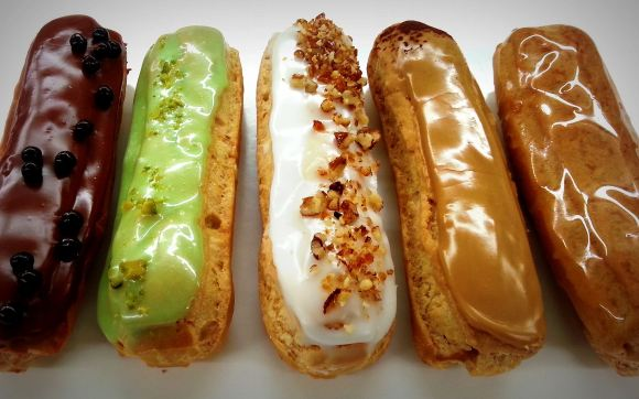 Eclair Coffee Eclair in a row