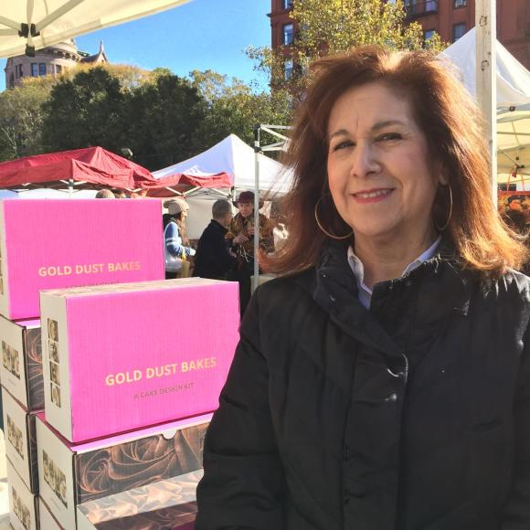 Rhona Hershkowitz, founder of Gold Dust Bakes (NYC), at the Artisanal Sweet Treats Bazaar